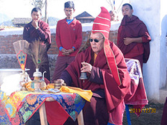 Rimpoche Performs Ceremonial Ritual
